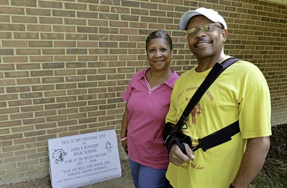 Vivian Tyree Coleman and Dennis Mallory are among the Kennedy alumni keeping school spirit alive.