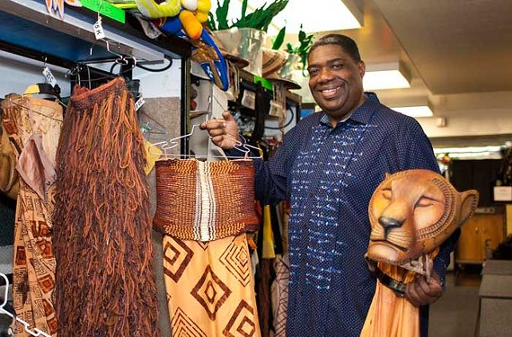 "Wardrobe supervisor Gregory Young keeps the costumes clean and ready for ""The Lion King."""