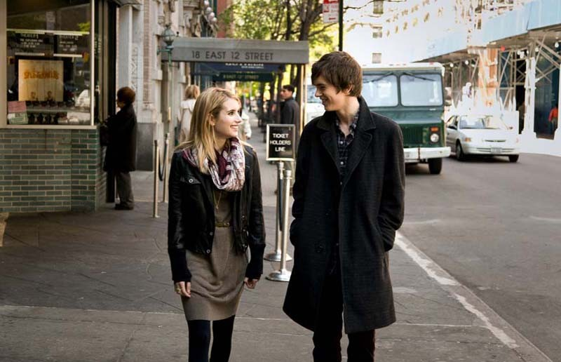 "When George Met Sally: Emma Roberts and Freddie Highmore meet cute in the new ""The Art of Getting By."" - MARK SCHAFER"