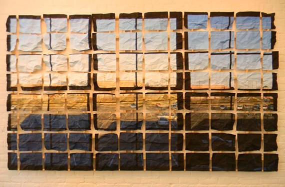 """Windows"" a new work focusing on structure by longtime local sculptor Myron Helfgott. - GALLERY A"