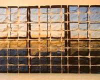 """Windows"" a new work focusing on structure by longtime local sculptor Myron Helfgott."