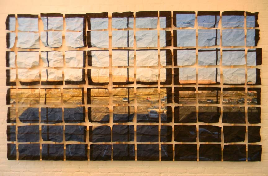 """Windows"" a new work focusing on structure by longtime local sculptor Myron Helfgott. - GALLERY A"