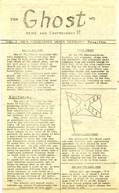 With fiery editorials denouncing police brutality and institutionalized racism, The Ghost pulled few punches during its brief run. - SPECIAL COLLECTIONS AND ARCHIVES, VCU LIBRARY