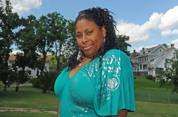 """With her cast of single mothers, Aretha Lewis aims to put the reality back in such reality shows as """"Real Housewives,"""" Her new local television show, """"The Real Babymamas of Richmond,"""" airs Mondays at 9 p.m. on public access. - SCOTT ELMQUIST"""