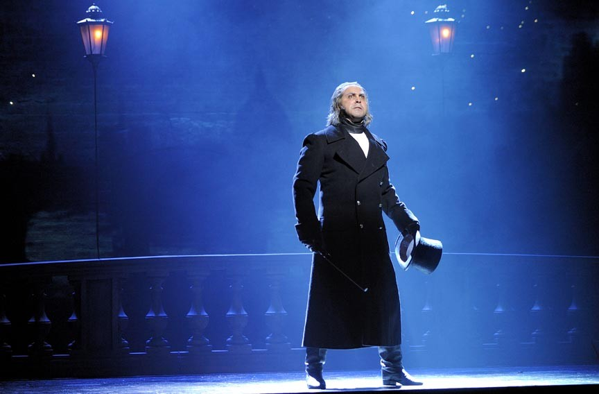 """With his critically acclaimed, powerful voice, Andrew Varela stars as police inspector Javert in the box office smash, """"Les Miserables"""" currently in its 25th anniversary stage tour. - DEEN VAN MEER"""