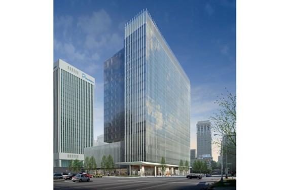 Work has started on the $110 million dollar Gateway Plaza building to be completed by July 2014. The 18-story structure will be used primarily by McGuireWoods law firm. - CLAYCO