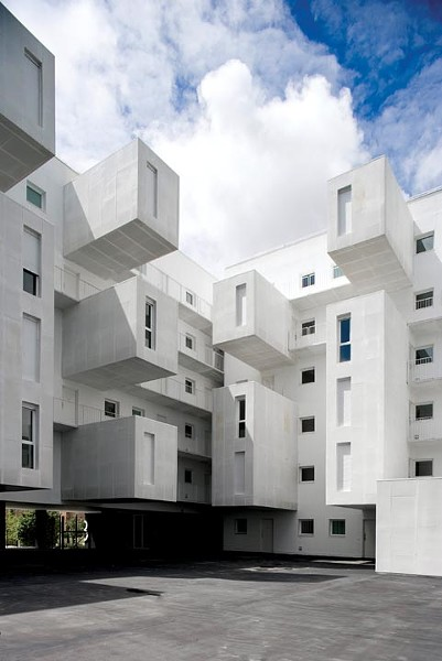 You've never seen public housing quite like this. A Spanish architecture firm designed the honeycomblike Carabanchel complex in Madrid.