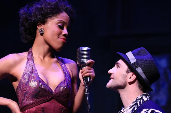 """Zuri Washington as Felicia and Daniel S. Hines as Huey in the musical """"Memphis,"""" which won the 2010 Tony Award for best musical."""