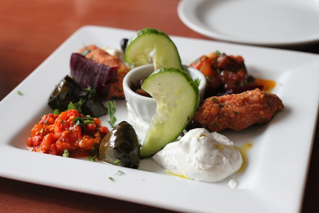 A first-rate mezze plate.