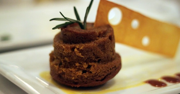 A pumpkin-rosemary cake tops off a varied, well-executed meal.