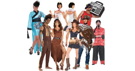 """A smorgasbord of """"cultural"""" costumes for sale at buycostumes.com."""