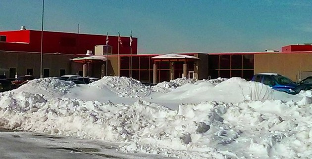 A snow-covered Central Nova Correctional Facility in Burnside. - COREY MOORE