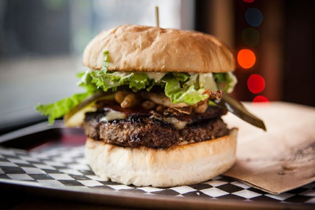 Ace Burger brings it with their Getaway patty with Brothers back bacon. - RILEY SMITH