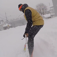 Snowboarding the streets of Dartmouth