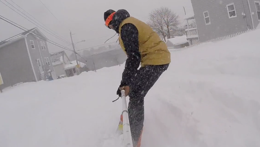 Adrian McLean had the easiest commute of anyone yesterday.