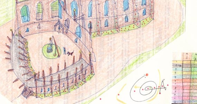 After breaking down in Cambridge, John Devlin began drawing the place.