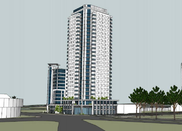 An artist's rendering of APL's resubmitted design.