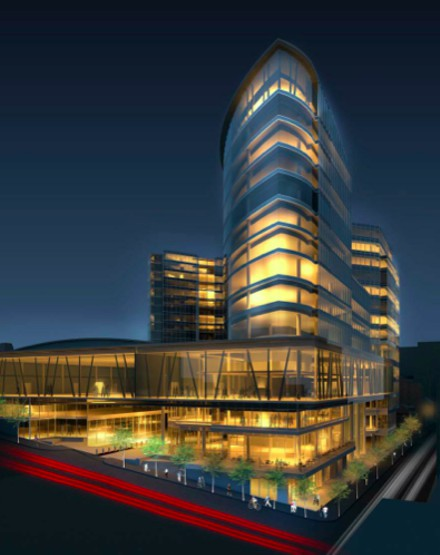 An artist's rendering of the yet-to-be-completed Nova Centre.