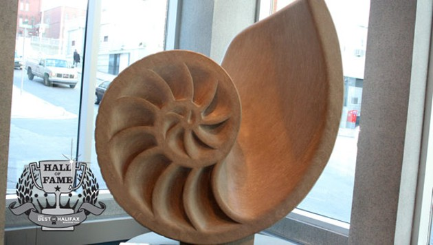 An icon for an icon: Neptune Theatre's nautilus sculpture.