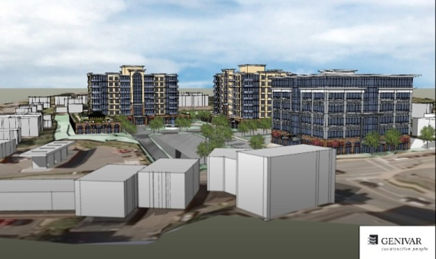 Artist's rendering of the proposed Fairview development.