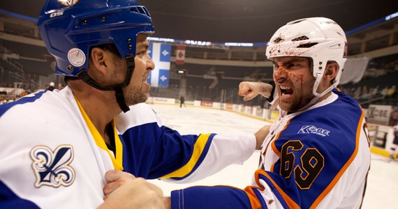 Blood on the ice: Seann William Scott is the titular Goon.