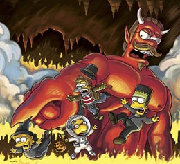 "Bloody funny The Simpsons' ""Treehouse of Horror"" turns horror and gore into fun for the 19th time."