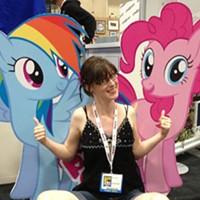 Brenda Hickey ponies up at Hal-Con.