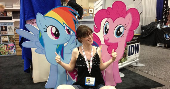 Brenda Hickey ponies up at Hal-Con.