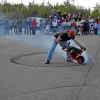 Burning Rubber performance by Steven Laurie, 2007.