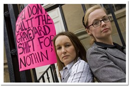Campaigners Left to right: Margaret and Sarah Densmore.photo Aaron Fraser