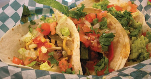 Cantina Mexicana's taco combo lets you pick the toppings. - GEORDON OMAND