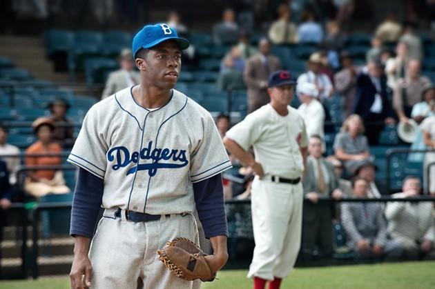 Chadwick Boseman as Jackie Robinson