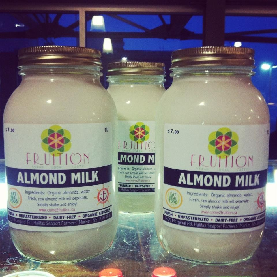 Check it: Fruition's the only local almond milk supplier!