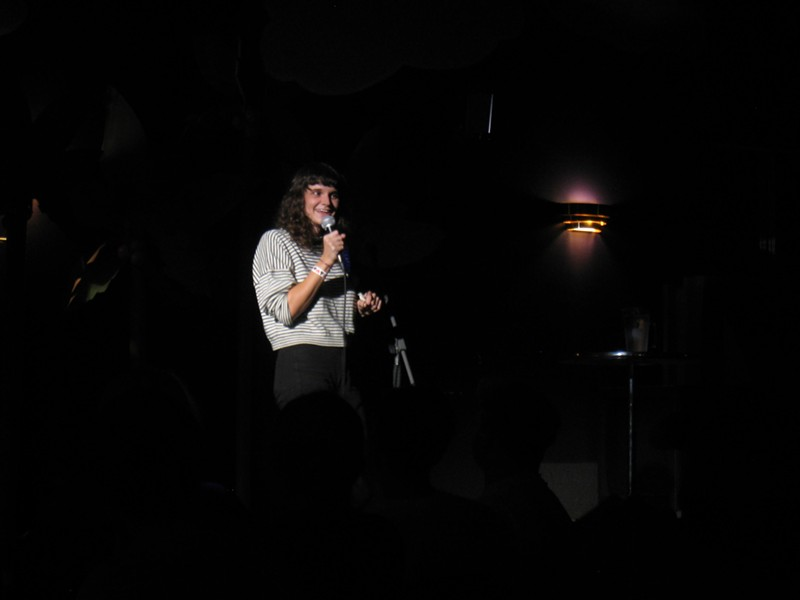Cheryl Hann telling funnies at Uncle Larry's. - ADRIA YOUNG