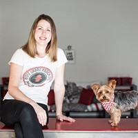 Christine Black and Chester, owners of Petite Urban Pooch small dog daycare.