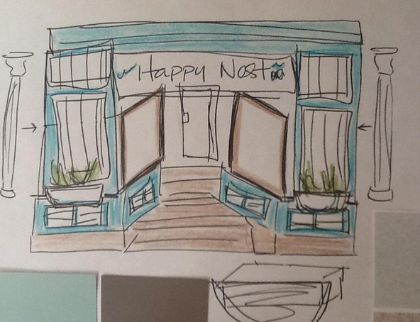 Coming soon to 6448 Quinpool, Happy Nest (sketch by Shay Ingram)