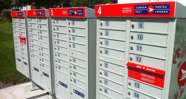 Community mailboxes like these are on their way to a street near you.