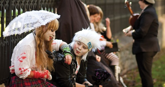 Cosplayers meet at the Old Burying Ground. - MEGAN TANSEY WHITTON