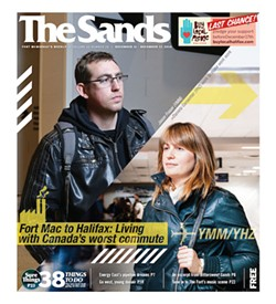 Cover of the Fort McMurray special issue, titled The Sands rather than The Coast