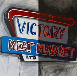 "Craig Budovitch, Victory Meat, Acrylic on Canvas, 48"" x 48"", 2013"