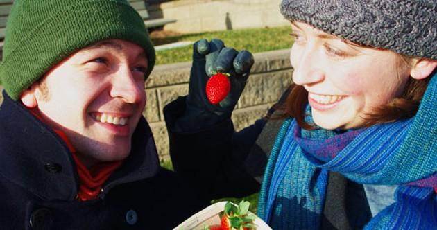 Dan Gervais (Francois) and Jozel Bennett (Sophie) of Strawberries in January.