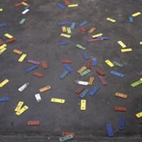 Daniel Olson tosses his toys at Dal Art Centre