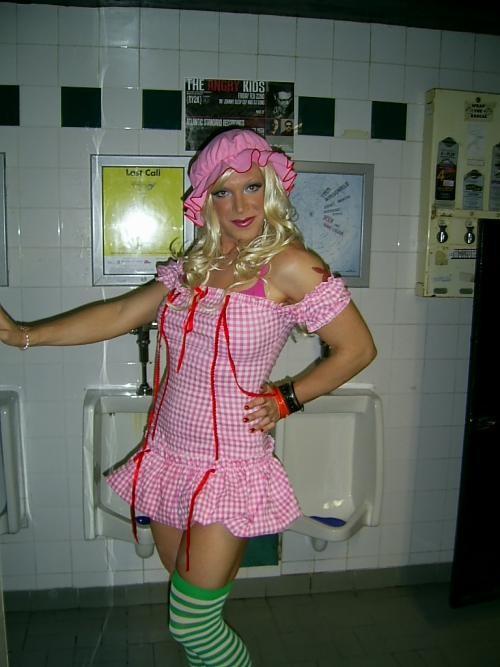Debbie Diamond lights up the urinals