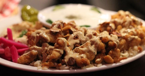 Discovery central: Layla's fish shawarma platter is incredible.