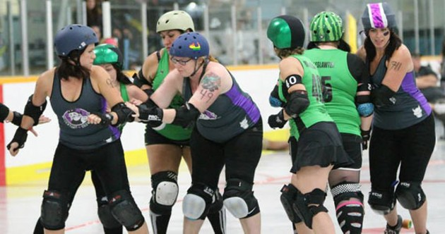 Dockyard Brawlers VS Tar City Rollers (August 30 2014). - RICHARD LAFORTUNE