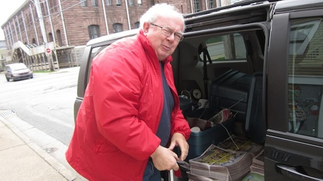 Doug Brown loads up for his delivery route. - TANYA KUNWONGSE