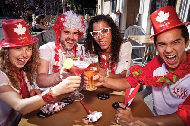 Downtown Halifax is perfect for summer patio drinking (we're looking at you, veranda July) and spreading Canada Day's beaver fever. - RILEY SMITH