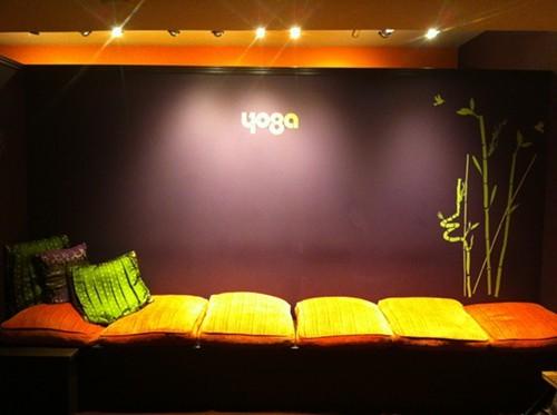 earthy toned studio walls