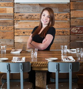 """""""It's not so much a job as it is a lifestyle,"""" says EDNA's Jenna Mooers of running a restaurant. - SCOTT BLACKBURN"""