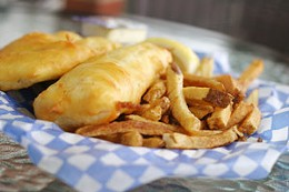 Everyone's fave Take all your friends and family for fish and chips at Fredie's.photo Julé Malet-Veale